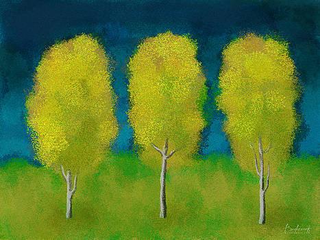 Trees in Triplicate Harvest by Robin Lewis