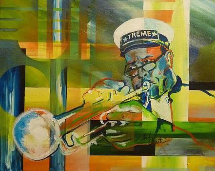 Treme trumpeter by Reuben Cheatem
