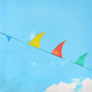 Triangles and Clouds by Sharon Kalstek-Coty