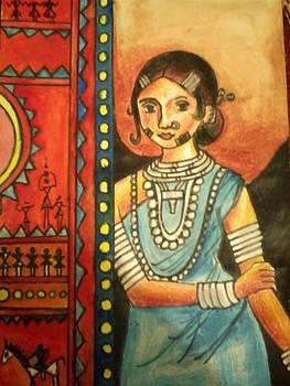 Tribal woman by Amisha Tripathy