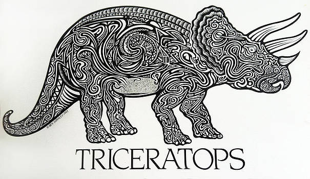 Triceratops by Ben Gormley