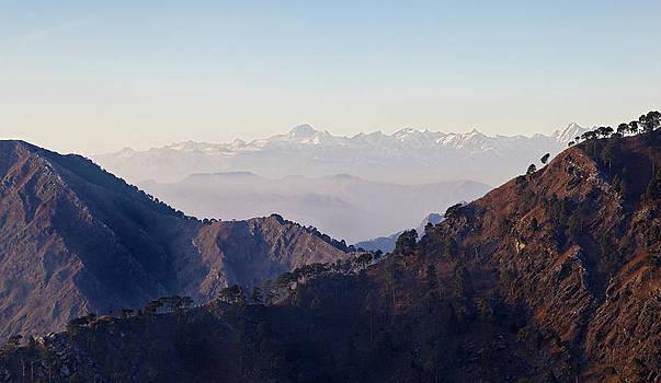 Kantilal Patel - Trikuta Snowcapped Himalayas