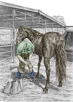 Kelli Swan - Trim and Fit - Farrier and Horse Print Color Tinted