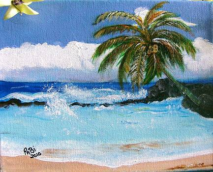 Tropical Beach by Patsi Stafford