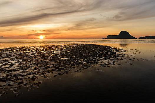 Tropical colorful sunset  by Panya Jampatong