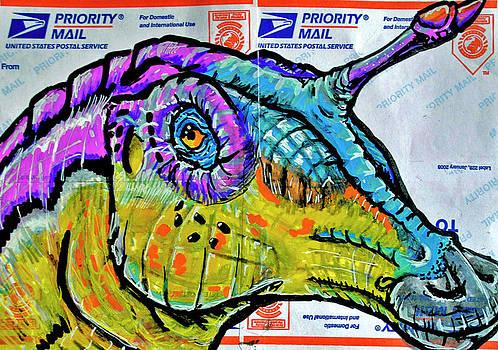 Tsintaosaurus by Josean Rivera
