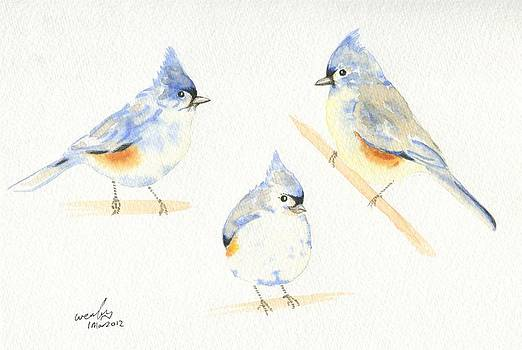 Tufted titmice by Wenfei Tong