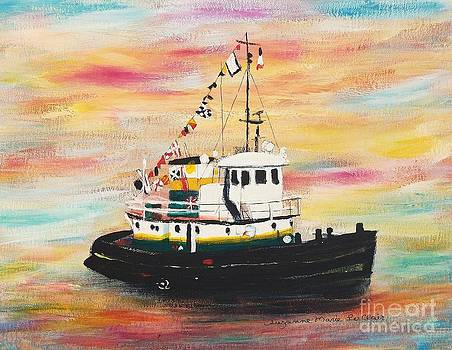 Tugboat  by Suzanne  Marie Leclair