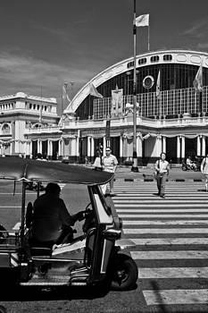Tuk Tuk and Train station in Bangkok  by Subpong Ittitanakul