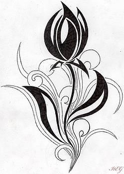 Tulp Flower TYribal by Ernestas Aglinskas