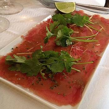 Tuna Carpaccio-l'avenue by Susan Smela