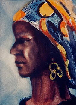 Turbanned Lady by Bettye  Harwell