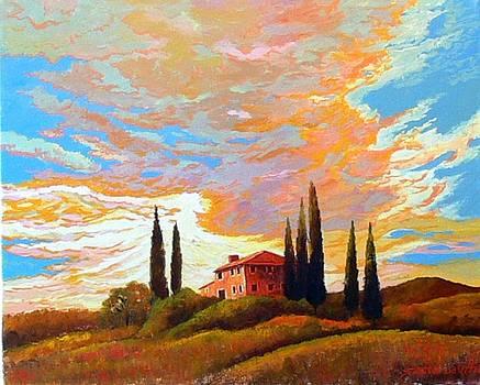 Tuscan Sky by Santo De Vita
