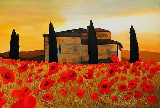 Tuscan Sunset by JoeRay Kelley