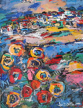 Tuscany With Flowers 02 by Len Yurovsky