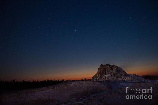 Twilight at White Dome Geyser by Katie LaSalle-Lowery