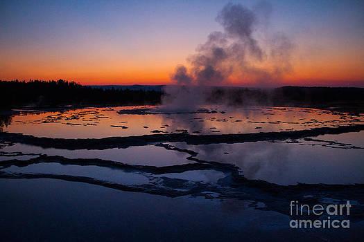 Twilight Eruption of Great Fountain Geyser 5 by Katie LaSalle-Lowery