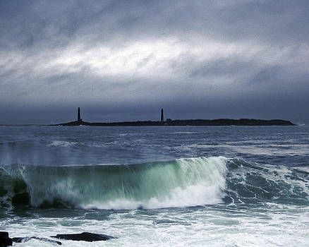 Twin Lighthouses by Dave Saltonstall