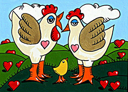 Two and a Half Chicks by JW DeBrock