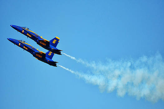 Two Blue Angels by Kelly Reber