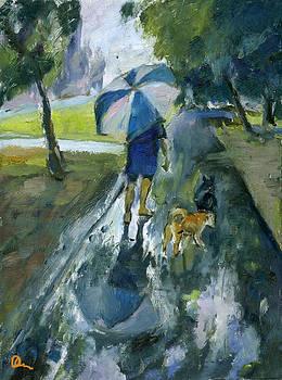 Two Dogs Unumbrelled by Lelia Sorokina