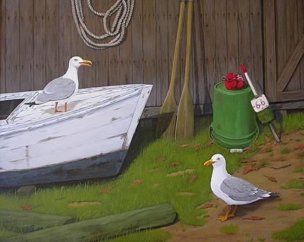 Two Gulls by Jim Ziemer