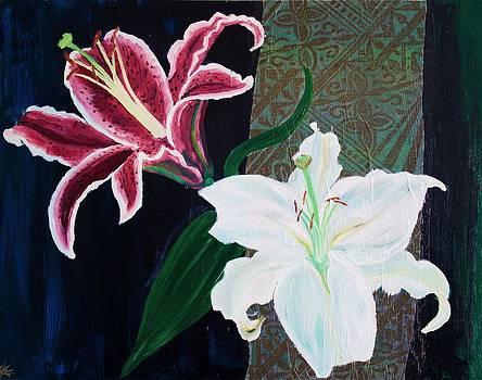 Samar Asamoah - Two Lilies on Black