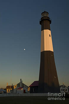 Tim Mulina - Tybee Island Lighthouse and Moon