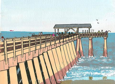 Tybee Island Pier by Kris Sperring