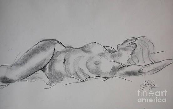 Ulrike reclining by Gill Kaye