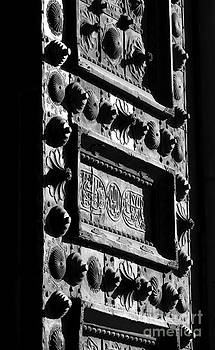 Umayyad mosque's gate by Issam Hajjar