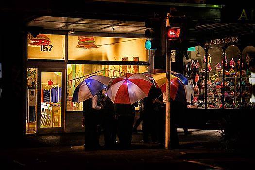 Umbrella singers by John Monteath
