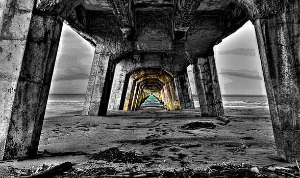 Under Tolaga Bay Wharf by Judy Watson