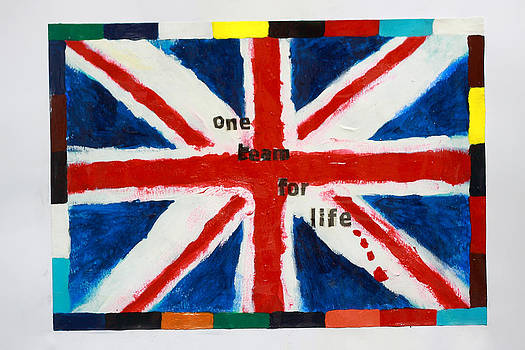 Union Jack One Team for Life by Terry Burke
