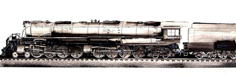 J Vincent Scarpace - Union Pacific 4-8-8-4 Steam Engine BIG BOY 4005