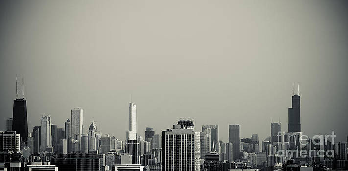 Unique buildings in Chicago Skyline   by Linda Matlow
