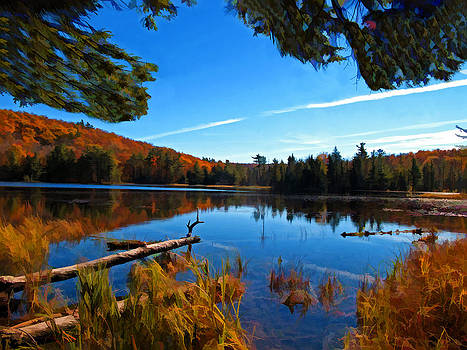 Chantal PhotoPix - Unspoiled Nature - Scenic Autumn Lake Reflection