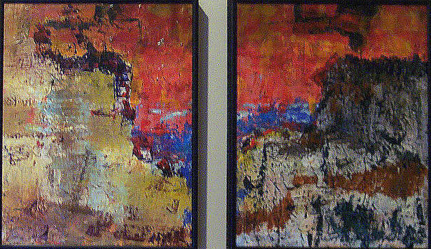 Untitled Diptych by Charlie Harris