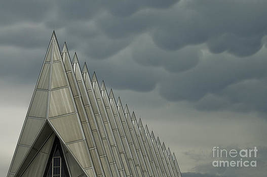 Tim Mulina - US Air Force Academy Chapel Storm Clouds