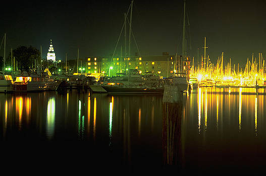 U.S. Sailboat Show at Night by Paul Pobiak