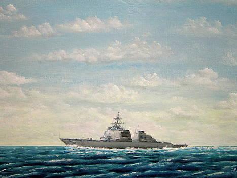 USS Arleigh Burke DDG 51 by Jim  Romeo
