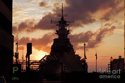 Tim Mulina - USS Wisconsin at Sunset