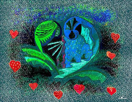 Valentine's Winter - Blue by Lori Kirstein