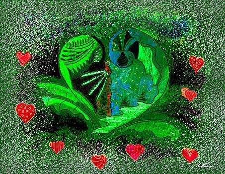 Valentine's Winter - Green by Lori Kirstein