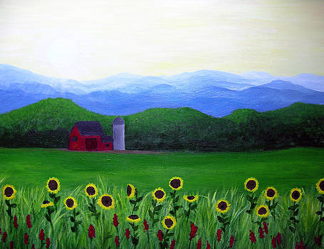 Valley of Sunflowers by Amy Scholten