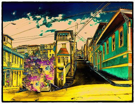 Valparaiso hills by Peter Crass