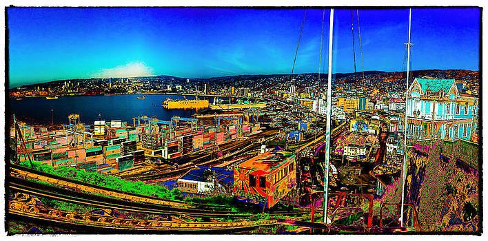 Valparaiso panorama by Peter Crass
