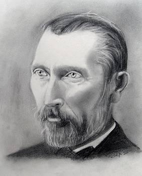Van Gogh Pencil Portrait by Andrea Realpe