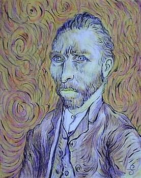 Van Gogh Portrait by Silvia Gold