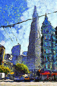Wingsdomain Art and Photography - Van Gogh Sips Absinthe And Takes In The Views From North Beach in San Francisco . 7D7431